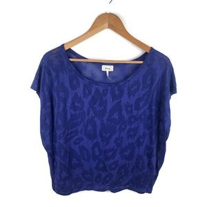 Kirra Purple Animal Print Crop Top Large